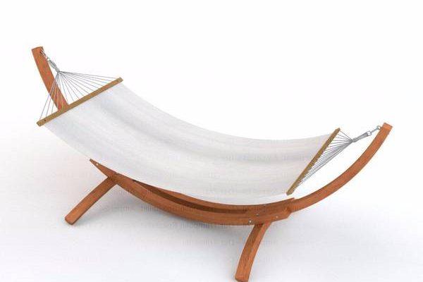 Test Hamac avec pied en bois pour hamac en coton